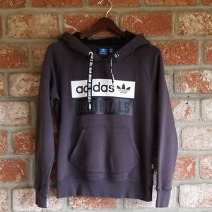 Adidas originals three stripes logo hoodie
